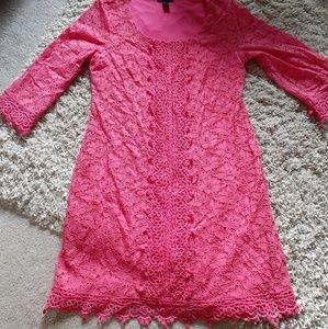 Alfani lace crochet dress size L